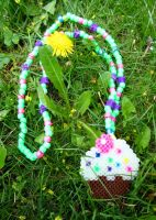 Glow-In-The-Dark Cupcake Necklace by cadillacphunque