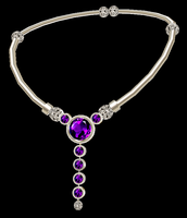 Aletheia Silver Choker with Amethyst by LilipilySpirit