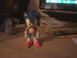 Classic Sonic 20th anniversary figure by sonicfan40