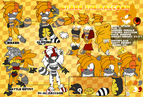 Spade the Raccoon Ref and Bio by UltraFlameHog