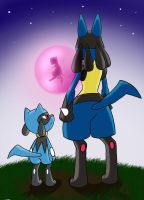 lucario and riolu by KanyMon