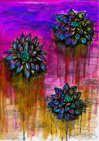 Water Lilies on Acid 3 by honey-art