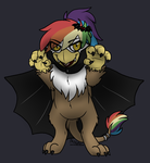 Rainbow Feather on Nightmare Night byBreezePleeze by Q99