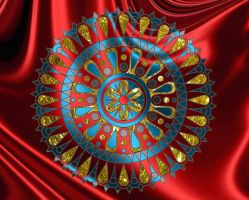 Mandala184 - Red Satin by LisaJStalnaker
