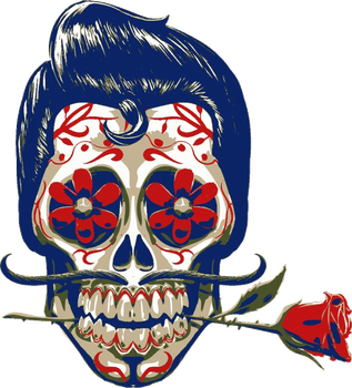 Mexican Skull 2 wear by Gilvany-Oliveira