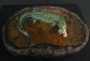 Sarcosuchus model by fotostomias