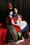Alice Liddell and Queen of Hearts by LucyIeech
