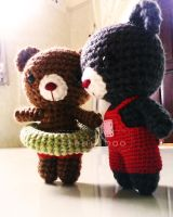 Mini crochet bears by abaoabao