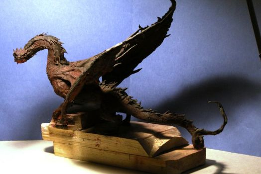 Smaug - king under the mountain by AnotherDungeonhero