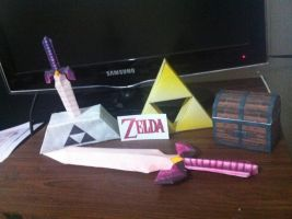 the legend of zelda stuff by RaulBataka