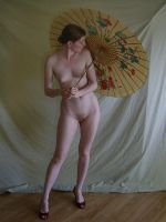 Nude With Parasol 7 by chamberstock