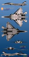 Su-53SR-CS Frigate Queen of Tokiwadai by haryopanji