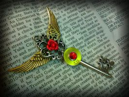 The Rose Messenger Fantasy Key by ArtByStarlaMoore