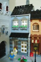 Town house in sand blue by Legofun