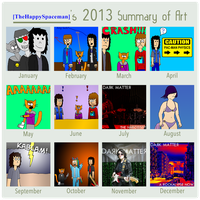 2013 in Art by TheHappySpaceman01