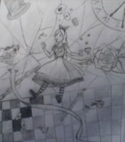 Alice-falling into madness by ILuvSoulEvans