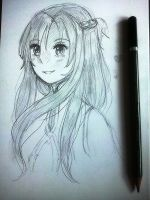 Asuna sketch by kioler