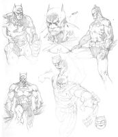 Jim Lee's Batman Study by BeniaminoBradi