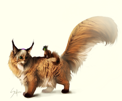Fluffy tail. by Safiru