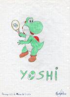 Yoshi tennis by Dino-drawer