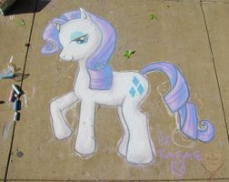 Rarity Chalk in the Park by Kafae-Latte