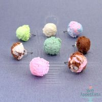 New Ice Cream Scoop Earrings by Bon-AppetEats