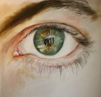 my brother's eye in Pastels by xxx-ellie