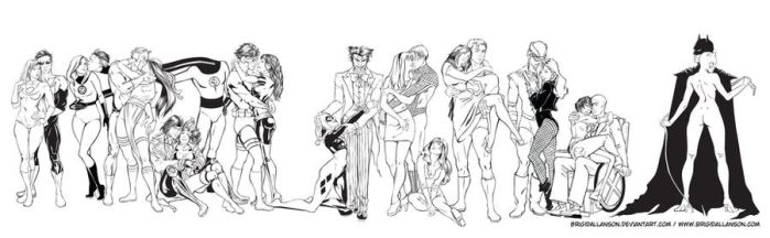 Superhero Couples by BrigidAllanson