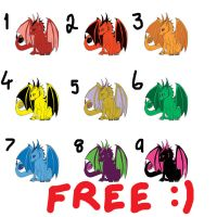 More Free Dragon Adoptables! -CLOSED- by 12AngelOfDarkness21