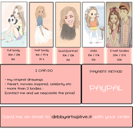 HOW TO ORDER MY ART ^_^ by DebbyArts