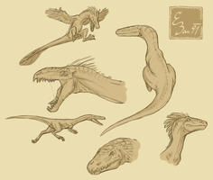Dino sketches by BUGHS-22