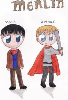 Merlin and Arthur by the-original-unicorn