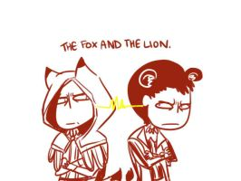AC: Fox and Lion. by thunderjelly