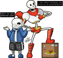 Sans and Papyrus by Dark93C
