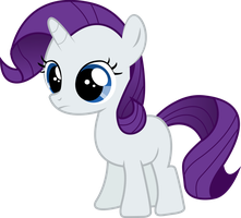 Filly Rarity by Silentmatten