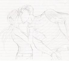 Francis and Eileen Kiss Sketch by Empty-Brooke