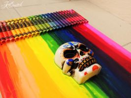 Crayon melting with 3D mexican skull 2 by killswitch90