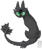 Scrapbook style toothless by MUTTD0G