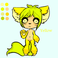 Yellow Rainbow Collab Adoptable [CLOSED] by meloniigayle