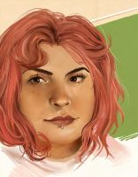 Self with Pink Hair by propensity