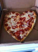 Heart shaped Pizza by hershey990