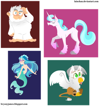 Mythical peeps by lainchan