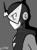 Elecman B and W by Kamira-Exe