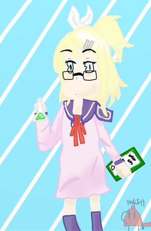 The Straight Faced Science Girl by YoshiJr11