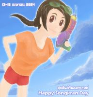 Happy Songkran Day by wonderful7life