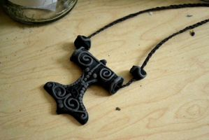The Hammer of Thor amulet by AmbitiousArtisan