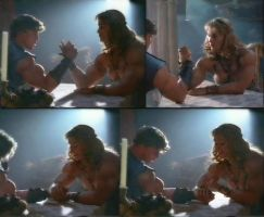 Antique arm wrestling by Musclelicker