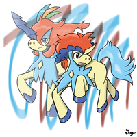 Pokemon Keldeo Character by MultiTAZker