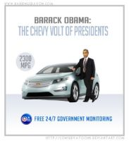 Obama: the Chevy Volt of Presidents by Conservatoons