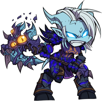WoW Chibi - Warrior by Zeon-in-a-tree